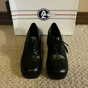 Black Leather Boyfriend Shoe